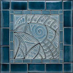 Blue+Bird+of+Big+Happiness by Lynne+Meade: Ceramic+Tile available at www.artfulhome.com