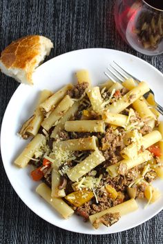 Ziti with Porcini Bolognese Sauce for #SundaySupper