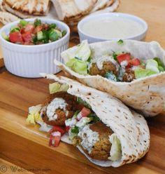 Falafel mit Salat # Israelischen SundaySupper | Webicurean