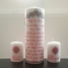 Front view... Personalized Candles, Rigs, Pillar Candles, Wedges, Candles