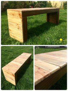 A bench for outside I made with palet wood for my mum/ banc pour le jardin en bois de palettes