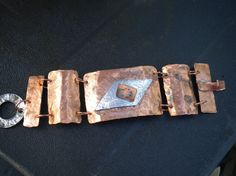 Hammered Copper Stainless Aluminum Linked by TrueSelfStudio, $54.00  LOVE copper and love this from @Dotti Feinstein !!