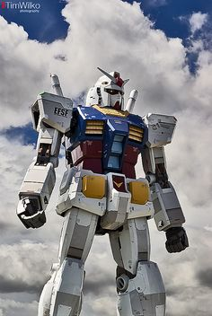 "An 18 metre tall robot in Odaiba, Tokyo, Japan.    From wikipedia:   ""As part of the 30th Anniversary of the Gundam series, the company officially announced a project on 11 March, 2009 called Real-G to build a 1:1 real-size, scaled Gundam statue in Japa This is the best of the best"