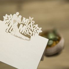 FREE SHIPPING: Magical Mr. and Mrs. Place Card As low as $1.76