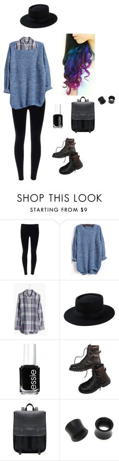 """Untitled #5484"" by northamster ❤ liked on Polyvore featuring Madewell, Essie, American Eagle Outfitters and NOVICA"