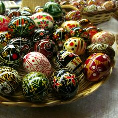 More Pysanky Easter egg photos -- professional designs, detail++, & information on traditional designs.