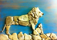 Stefano Furlani  is an artist from Fano (PU) who makes these detailed artwork with stones found by him and his so...