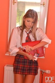 Young school girl anal