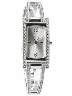 Guess G85953L Crystal Silver Bangle Ladies Watch GUESS. $104.97. Removeable links for easy size adjustments. Feminine style with swarovski crystals. Water resistant Guess Watches, Cute Watches, Wrist Watches, Wear Watch, Silver Bangles, Feminine Style, Icing, Swarovski Crystals, Jewlery
