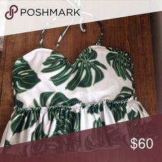Sweetheart peplum top Perfect condition. I love it but I kind of want to try a different print. Swim Bikinis