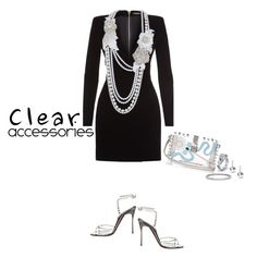 """""""Clear Accessories"""" by captainsilly ❤ liked on Polyvore featuring Balmain, Christian Louboutin, Dolce&Gabbana and Blue Nile"""