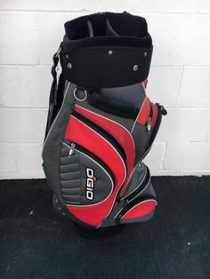 OGIO Woode Club Management System Cart Bag 7-way divider~RED BLACK GRAY~GOOD CO- #OGIOWOODECLUBMANAGEMENT #Modern