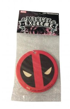 Marvel Comics Deadpool Mask Cinnamon Scent Auto Office Air Freshener