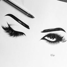 how-to-apply-eye-lash-extensions - More Beautiful Me 1 Pencil Art Drawings, Art Drawings Sketches, Red Cherry Lashes, Eye Sketch, Beautiful Eyelashes, How To Draw Hair, Eye Art, Amazing Art, Eye Makeup