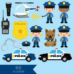Police Clipart by ClipArtisan on Etsy https://www.etsy.com/listing/471960938/police-clipart