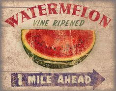 Roadside Watermelon Canvas... a welcome sign on a steamy hot summer's day!!