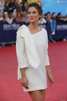 Mélanie Bernier (habillée en Dior) à Deauville le 6 septembre 2013.