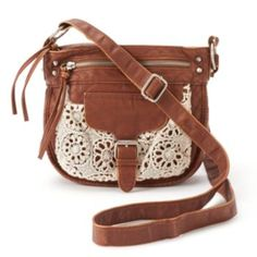 Mudd+Emily+Crochet+Crossbody+Bag