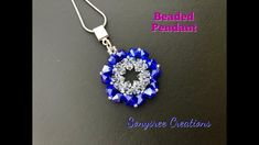 Bicone Beaded Pendant. Quick and Easy Project