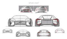 Volvo e100 concept preliminary sketches by Scott Kaiser.