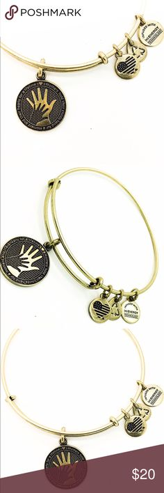 """Alex and Ani Hand in Hand EWB RG New without Tags!!                                                                                               Pictures by me!                                                                               ALEX AND ANI products are proudly designed&crafted in America&made with love. ALEX AND ANI products are infused with positive energy. Ancients referred to this precious energy as """"chi"""" & """"prana,"""" whereas modern science refers to it as vital force. It is…"""