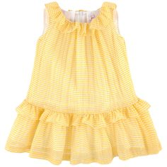 Silk blend voile Fancy seersucker Fine cotton lining Exquisite dress Light and flowing Crew neck Flounced collar Sleeveless Flounced hem Flared hem Invisible zipper at the back Waffle effect Two-colored stripes - 170.38 €