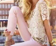 pink skinny jeans - Google Search