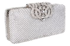 Stunning vintage style crystal encrusted evening bag with a beautiful eye catching clasp. This bag can be used as shoulder bag, clutch or purse. It comes with two different length chains. Perfect for all your special occasions. Wedding Bag, Clutch Purse, Bridal Accessories, Evening Bags, Vintage Fashion, Vintage Style, Handmade Jewelry, Shoulder Bag, Purses