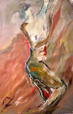 """Gisela Gaffoglio; Acrylic 2013 Painting """"Plasticity"""""""