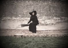 witch's costume :-) Dress and photo by me