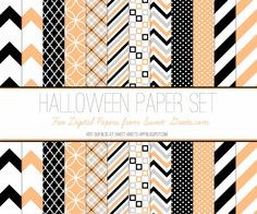 (This digital paper set was originally published at Sweet Nothings .)     Here's a set of 12x12 inch Halloween papers in orange, black...