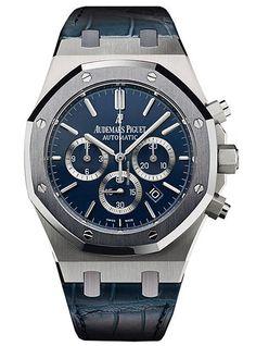 Audemars Piguet Royal Oak Leo Messi Limited Edition $79,995 #AudemarsPiguet #AP #Messi #watch #watches #chronograph Platinum case leather bracelet sapphire glass