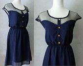 Vintage Inspired Chiffon Dress