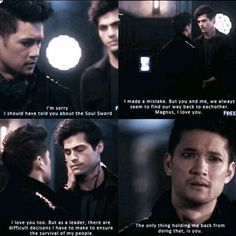 """MALEC (@malecismyheartandsoul) en Instagram: """"This was so fucking painful for my malec heart to make omg #claryfray #jacewayland #harryshumjr…"""""""