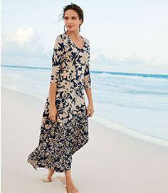 Soft Surroundings Dresses - Plus-size Satine Dress Drape Maxi Dress, Gauze Dress, Knit Dress, Maxi Dresses, Crochet Cardigan, Soft Surroundings Clothing, Ibiza Dress, Jumpsuits For Women, Fashion Jumpsuits