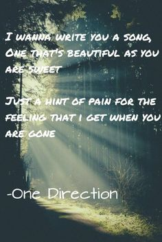 I Want To Write You A Song One Direction