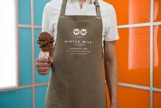 Winter Milk ice cream shop branding - Grits + Grids