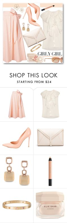 """""""Girly Girl in Gingham"""" by brendariley-1 ❤ liked on Polyvore featuring Lisa Marie Fernandez, Chloé, Gianvito Rossi, Miadora, shu uemura, Cartier, Elie Saab and Marni"""