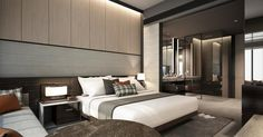 The InterContinental Singapore Robertson Quay , which will be launched 1 September, is located by the waterfront at the vibrant Rob. Master Bedroom Interior, Master Bedroom Closet, Home Bedroom, Modern Bedroom, Bedrooms, Master Bathroom, Villas, Hotel Room Design, Hotel Interiors