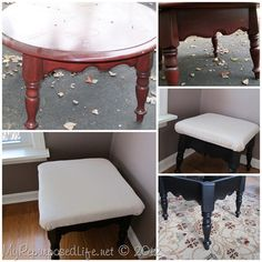 repurpose an old table into a useful new stool