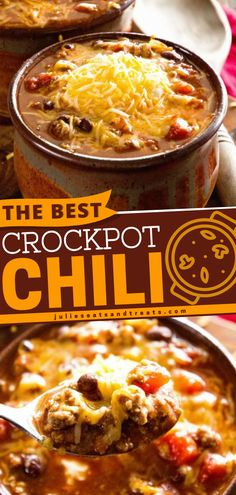 The best dinner recipes are the ones that give you comforting meals just like this Crockpot chili. It gets its flavor from assortments of spices including chili powder, garlic salt, cumin, and oregano. Personalize it with your choice of toppings! Best Crockpot Recipes, Easy Soup Recipes, Best Dinner Recipes, Lamb Recipes, Slow Cooker Recipes, Cooking Recipes, Crockpot Meals, Chili Recipes, Cooking Ideas