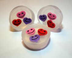 3 for 5  Smiley Heart Eraser Soap by FrontRangeLL on Etsy