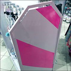 Children's Place Pink Dazzle Paint Safety Stripes – Fixtures Close Up Children's Place, Pink Color, Hot Pink, Safety, Retail, Stripes, Places, Painting, Security Guard