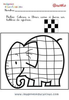 Elmer Elefante atención y grafo (8) Elmo, Expresso, Math Activities, Kids Rugs, Printables, Montessori, Arroz Frito, Albums, Madrid