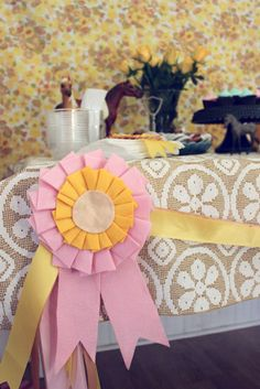 from a little pony party theme - get the tutorial http://www.designspongeonline.com/2009/11/made-with-love-horse-ribbons.html