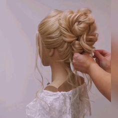 Hair Updo Tutorial, Hair Tutorial Videos, Wedding Updo Tutorial, Bridesmaid Hair Tutorial, Wedding Hairstyles Tutorial, Buns Hairstyles Tutorials, Fast Hairstyles, Hairstyles Videos, Wedding Hairstyles For Long Hair
