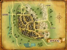 LOTRO map of Bree