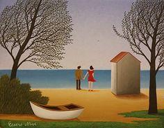 Our Holiday Ends by Cesare Novi - GINA Gallery of International Naive Art