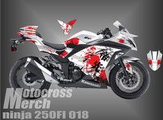 DECAL KAWASAKI 250FI CUSTOM STIKER decal kawasaki ninja 250fi motifcustom HP : 085290494595 BB :55C1DDB2 / 5443EE49 fb : janx d luffy, fanpage fb : motocross merch, grup fb : motocross merch al...