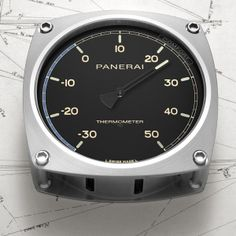 Inspired by the elegant lines of Eilean, the new Panerai navigation instruments evoke the world of classic yachts OFFICINE PANERAI BAROMETER, HYGROMETER, THERMOMETER AND WALL CLOCK